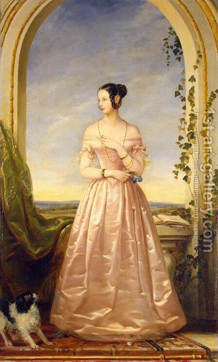 Grand Duchess of Russia, Alexandra Nikolaievna, daughter of Nikolai I by Christina Robertson - Reproduction Oil Painting