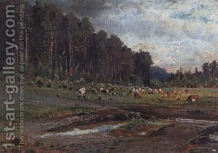 Elk Island in Sokolniki by Alexei Kondratyevich Savrasov - Reproduction Oil Painting