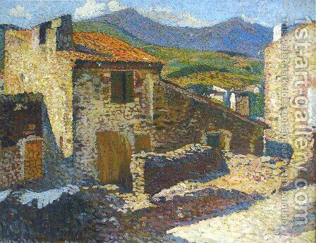 Village in the Sun by Henri Martin - Reproduction Oil Painting