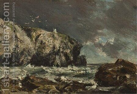 The Cliff Light, Cape Breton by Homer Watson - Reproduction Oil Painting