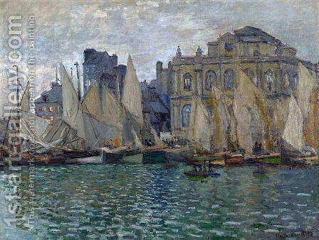 View of Le Havre by Claude Oscar Monet - Reproduction Oil Painting