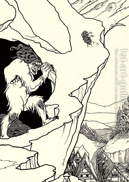 The Landslip by Aubrey Vincent Beardsley - Reproduction Oil Painting
