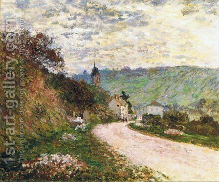 The Route a Vetheuil by Claude Oscar Monet - Reproduction Oil Painting