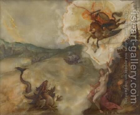 The liberation of Andromeda by Hans Von Aachen - Reproduction Oil Painting