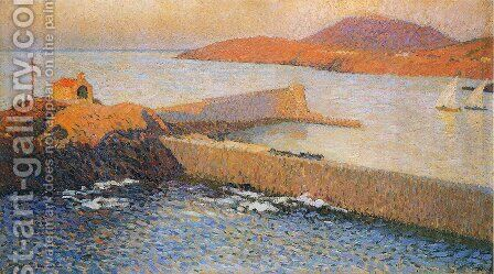 Collioure Chapel of La Digue by Henri Martin - Reproduction Oil Painting
