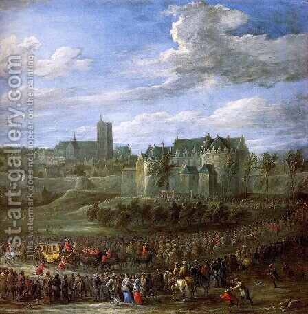Arrival of Christina of Sweden in Brussel by David The Younger Teniers - Reproduction Oil Painting