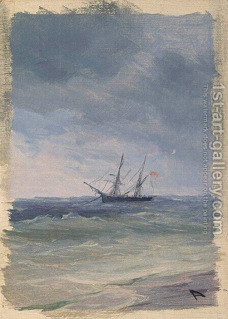 Sea 7 by Ivan Konstantinovich Aivazovsky - Reproduction Oil Painting