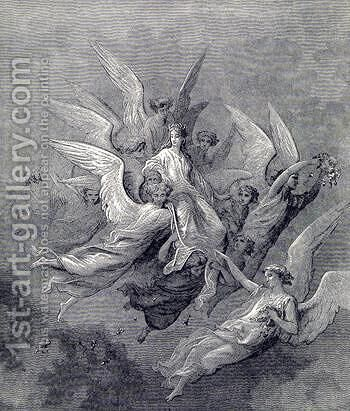 Purgatorio Canto 30 by Gustave Dore - Reproduction Oil Painting