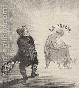 Thiers 2 by Honoré Daumier - Reproduction Oil Painting
