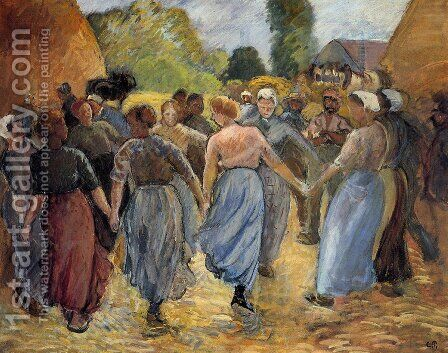 The Roundelay by Camille Pissarro - Reproduction Oil Painting