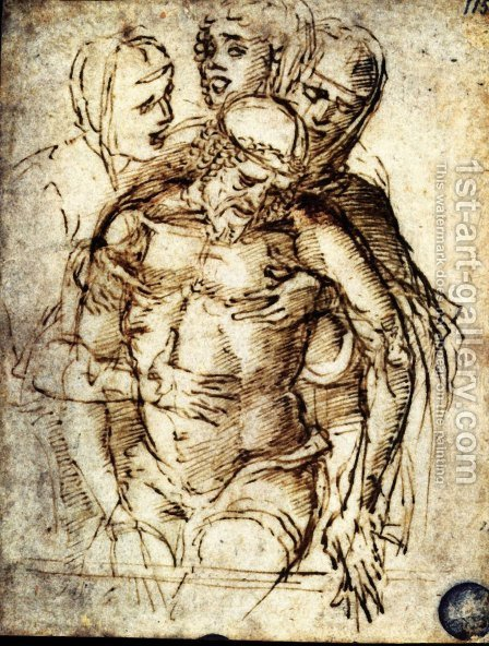 Pieta 2 by Andrea Mantegna - Reproduction Oil Painting