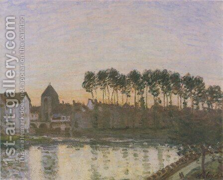 Sunset at Moret by Alfred Sisley - Reproduction Oil Painting