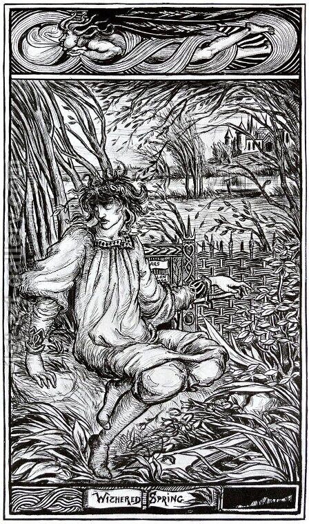 Withered Spring by Aubrey Vincent Beardsley - Reproduction Oil Painting