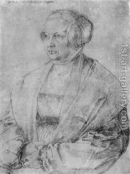 Portrait of Margaret of Brandenburg Ansbach by Albrecht Durer - Reproduction Oil Painting