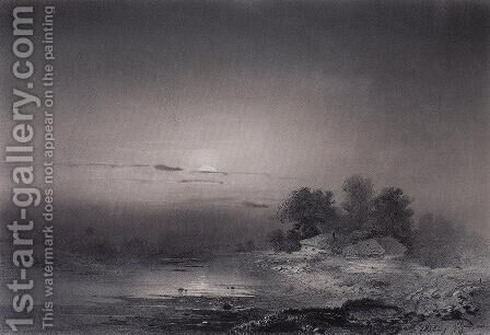 Moonlit Night by Alexei Kondratyevich Savrasov - Reproduction Oil Painting
