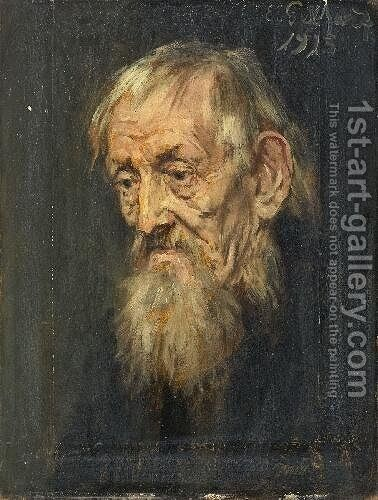 Portrait of an Old Man by Eduard Karl Franz von Gebhardt - Reproduction Oil Painting