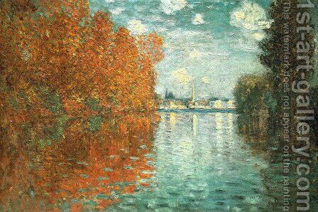 Autumn Effect at Argenteuil by Claude Oscar Monet - Reproduction Oil Painting