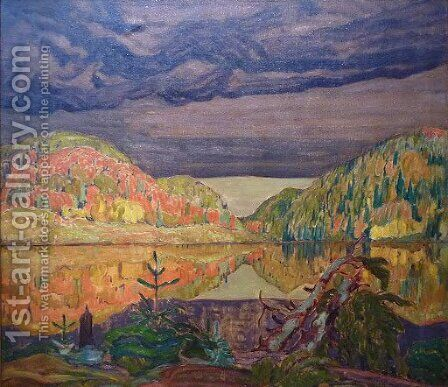 October Shower Gleam by James Edward Hervey MacDonald - Reproduction Oil Painting