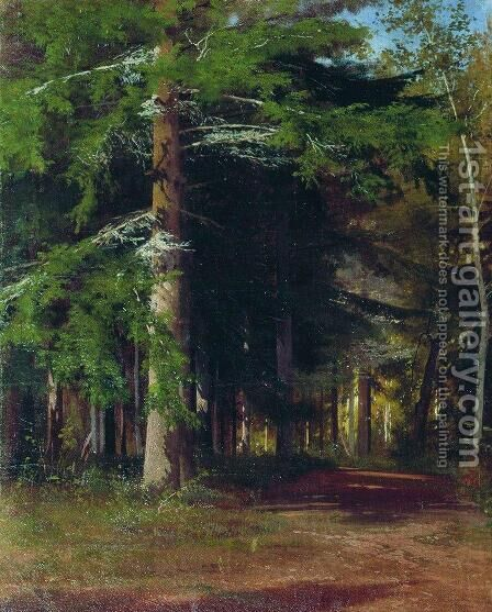 Study for the painting Chopping wood by Ivan Shishkin - Reproduction Oil Painting