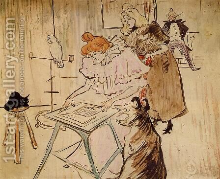The Motograph 2 by Toulouse-Lautrec - Reproduction Oil Painting