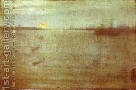 Whistler Nocturne Blue and Gold Southampton Water by James Abbott McNeill Whistler - Reproduction Oil Painting