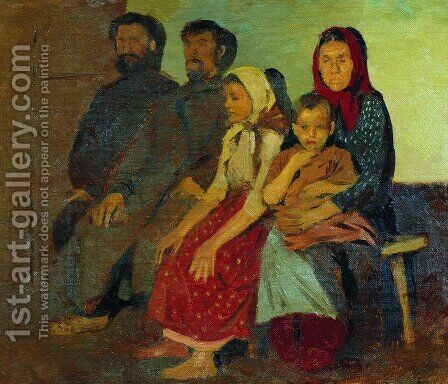 Waiting for newlyweds from the wedding in the Novgorod province by Andrei Petrovich Ryabushkin - Reproduction Oil Painting
