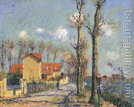 Quay of Pothius in Pontoise by Gustave Loiseau - Reproduction Oil Painting