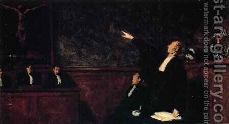 The Court by Honoré Daumier - Reproduction Oil Painting