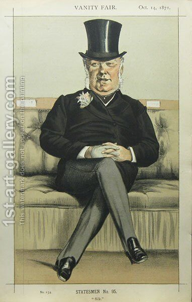 Caricature of Henry William Eaton M.P. by James Jacques Joseph Tissot - Reproduction Oil Painting