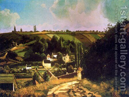 Hill of Jallais at Pontoise by Camille Pissarro - Reproduction Oil Painting