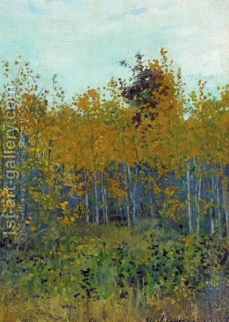 Aspen forest by Isaak Ilyich Levitan - Reproduction Oil Painting
