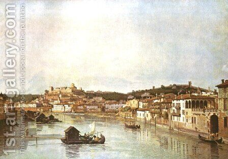 Verona Veduta by Bernardo Bellotto (Canaletto) - Reproduction Oil Painting