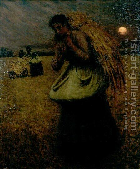 Nightfall (The Gleaners) by Henry Herbert La Thangue - Reproduction Oil Painting