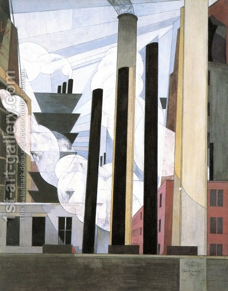 End of the Parade, Coatesville, Pa. by Charles Demuth - Reproduction Oil Painting