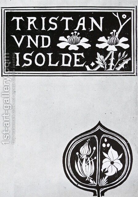 The cover of Tristan and Isolde by Aubrey Vincent Beardsley - Reproduction Oil Painting