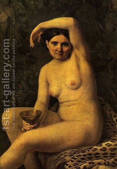 Bather with a Bowl by Aleksei Gavrilovich Venetsianov - Reproduction Oil Painting