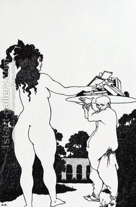 The Artist' Bookplate by Aubrey Vincent Beardsley - Reproduction Oil Painting