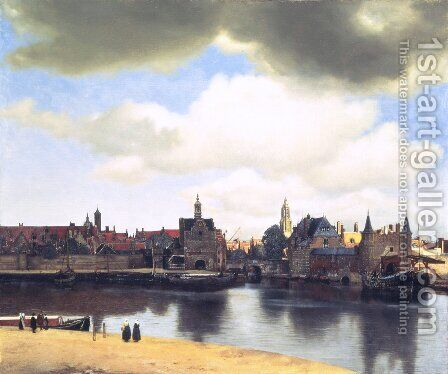 View on Delft by Jan Vermeer Van Delft - Reproduction Oil Painting