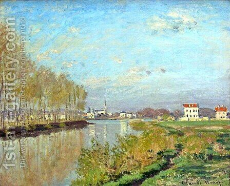 Argenteuil, The Seine by Claude Oscar Monet - Reproduction Oil Painting