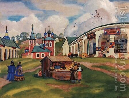 Province by Boris Kustodiev - Reproduction Oil Painting