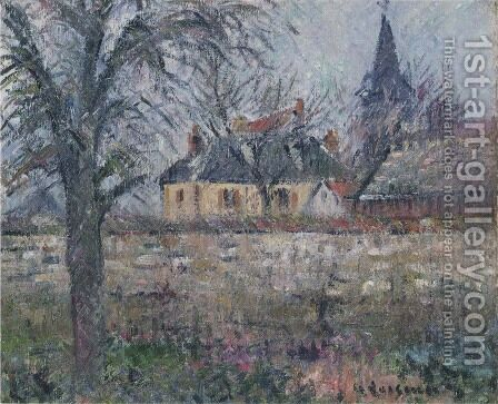 House of Monsieur de Irvy near Vaudreuil by Gustave Loiseau - Reproduction Oil Painting