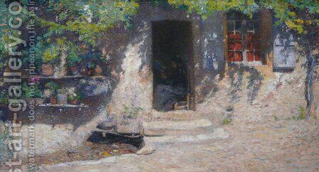Sunny Doorway by Henri Martin - Reproduction Oil Painting