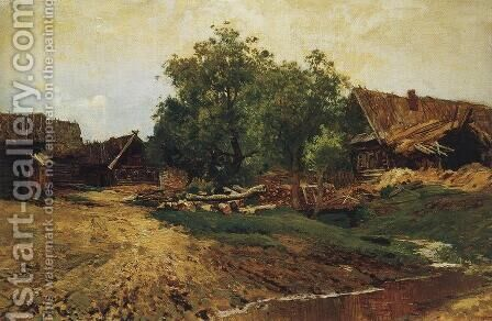 Village Savvinskaya near Zvenigorod at summer by Isaak Ilyich Levitan - Reproduction Oil Painting