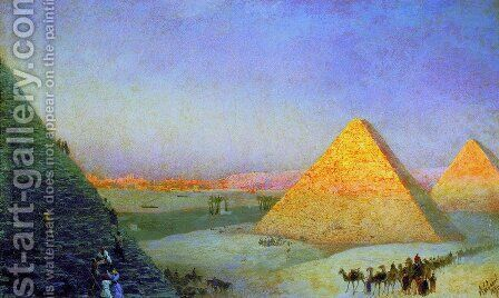 Pyramids by Ivan Konstantinovich Aivazovsky - Reproduction Oil Painting