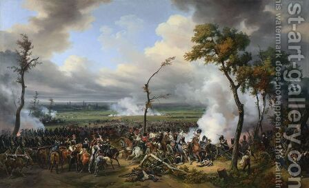 The Battle of Hanau by Horace Vernet - Reproduction Oil Painting