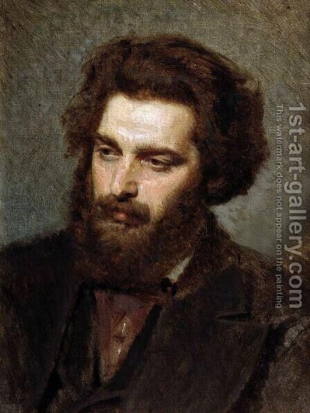 Portrait A.I.Kuindzhi 2 by Ivan Nikolaevich Kramskoy - Reproduction Oil Painting