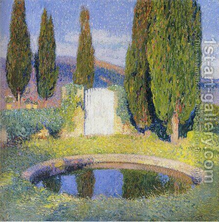 Fountain by Henri Martin - Reproduction Oil Painting