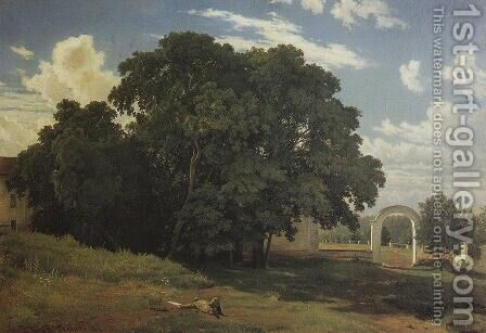 At the church fence. Balaam by Ivan Shishkin - Reproduction Oil Painting