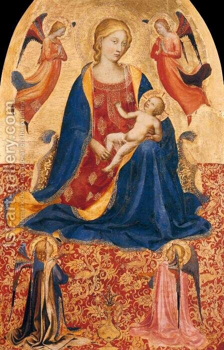 Madonna of Humility 2 by Angelico Fra - Reproduction Oil Painting