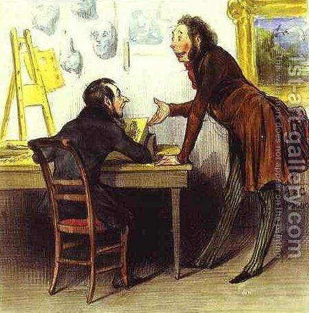 Mr. Daumier, Your Series... Is... Charming by Honoré Daumier - Reproduction Oil Painting